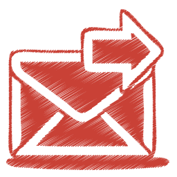 Red mail send icon