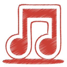 Red music icon