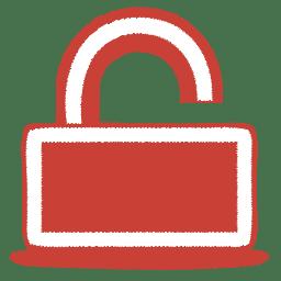 Red unlock icon