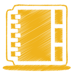 Yellow address book icon