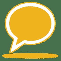 Yellow balloon icon