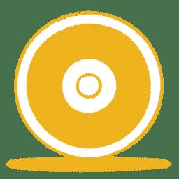 Yellow cd icon