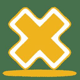 Yellow cross icon