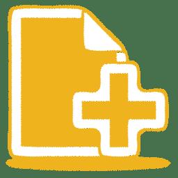 Yellow document plus icon