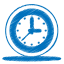 Blue-clock icon