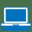 Blue laptop icon