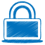 Blue-lock icon