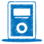 Blue mp3 player icon