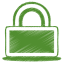 Green-lock icon