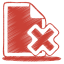 Red-document-cross icon