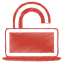 Red-unlock icon