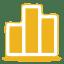 Yellow chart icon