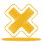 Yellow-cross icon