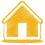 Yellow home icon