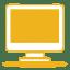 Yellow monitor icon