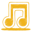 Yellow music icon