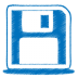 Blue-disk icon