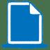 Blue-document icon
