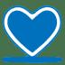 Blue-heart icon
