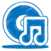 Blue-music-cd icon