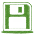 Green-disk icon