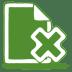 Green-document-cross icon