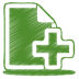 Green-document-plus icon