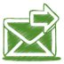 Green-mail-send icon