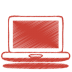 Red-laptop icon