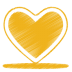 Yellow-heart icon