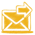 Yellow-mail-send icon