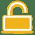 Yellow-unlock icon