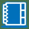 Blue-address-book icon