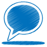 Blue-balloon icon