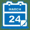 Blue-calendar icon