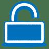 Blue-unlock icon