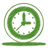 Green-clock icon