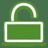 Green-unlock icon