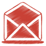 Red-mail-open icon