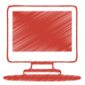 Red-monitor icon