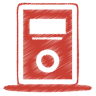 Red-mp3-player icon