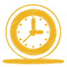 Yellow-clock icon