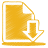 Yellow-document-download icon