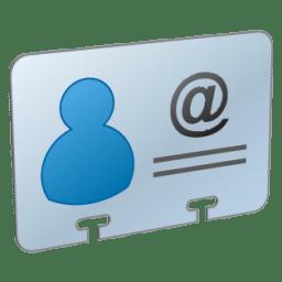 V Card icon