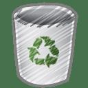 Scribble bin empty icon