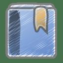 Scribble bookmark icon