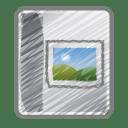 Scribble photo album icon