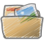 Scribble folder photos icon