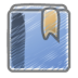 Scribble-bookmark icon