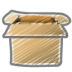 Scribble-box-open icon